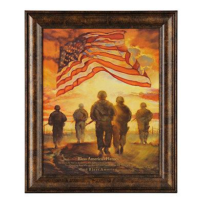 Bless America's Heroes Framed Art Print