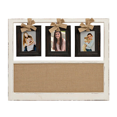 3-Opening Hanging Collage Frame with Corkboard