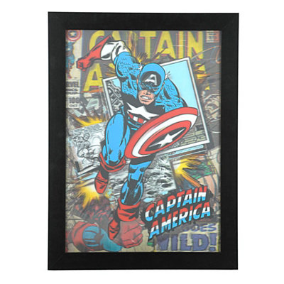 Captain America 3D Framed Art Print