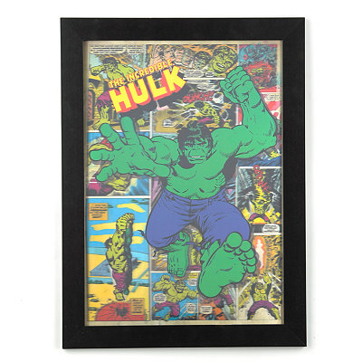 The Incredible Hulk Hologram Framed Art Print