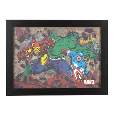 The Avengers Hologram Framed Art Print