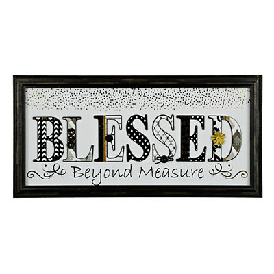 Black and White Blessed Shadowbox