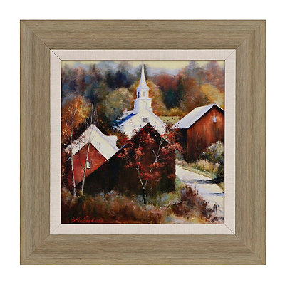 Scenic Church Framed Art Print