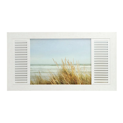 Coastal Window Framed Art Print
