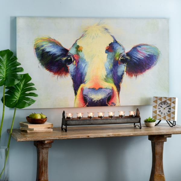 Peek-A-Moo Canvas Art Print - $69.99 $39.98