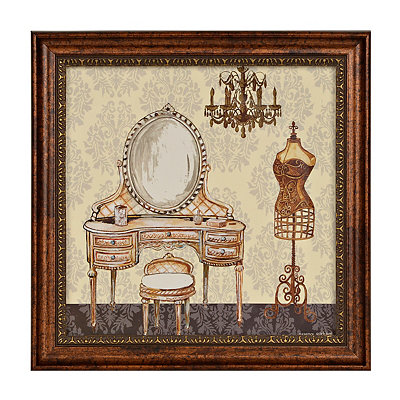 French Bath I Framed Art Print
