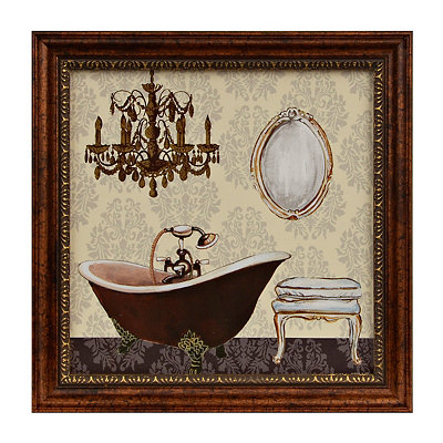 French Bath II Framed Art Print