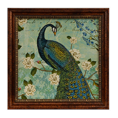 Peacock Arbor II Framed Art Print