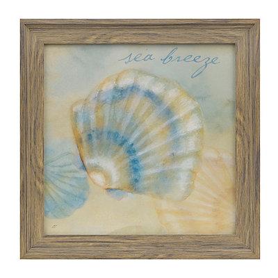 Watercolor Shells I Framed Art Print
