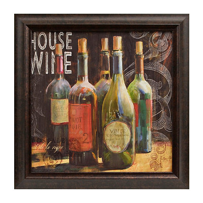 Wine Blackboard I Framed Art Print