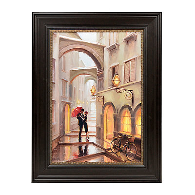 Couple in Archway Framed Art Print