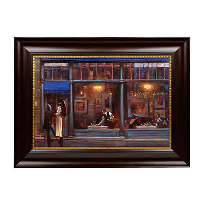 5th Avenue Cafe Framed Art Print