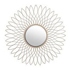 Hattie Gold Bloom Mirror