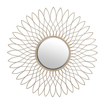 Hattie Gold Bloom Mirror