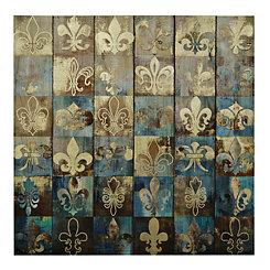 Fleur-de-lis Patchwork Canvas Art Print