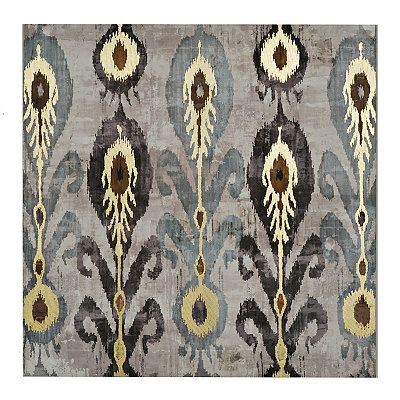 Elegant Ikat Canvas Art Print
