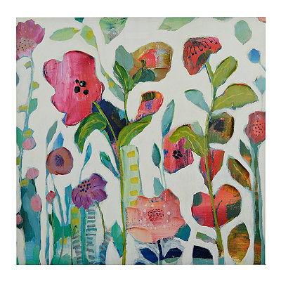Colorful Modern Floral Canvas Art Print