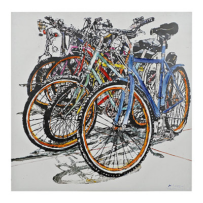 Bicycles Canvas Art Print