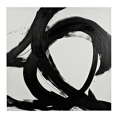 Black and White Abstract Canvas Art Print