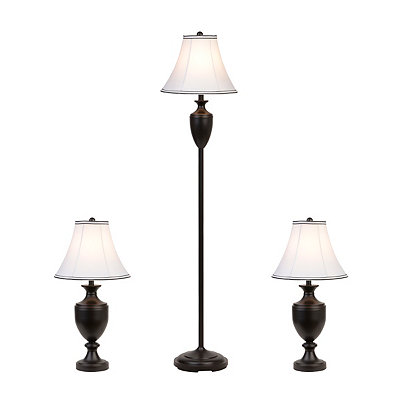 Bronze Bells Floor and Table Lamps, Set of 3