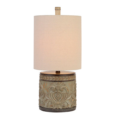 Laurel Bay Carved Table Lamp