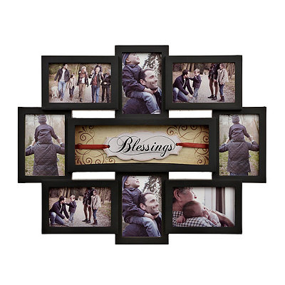 Black Blessings 8-Opening Collage Frame