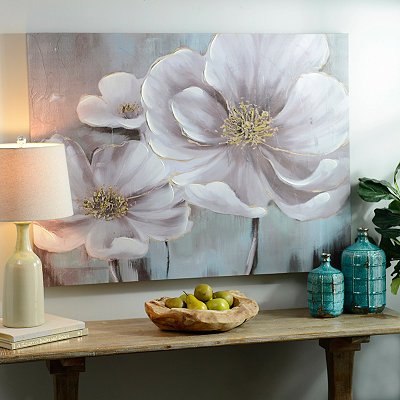 Floral Eloquence Canvas Art Print