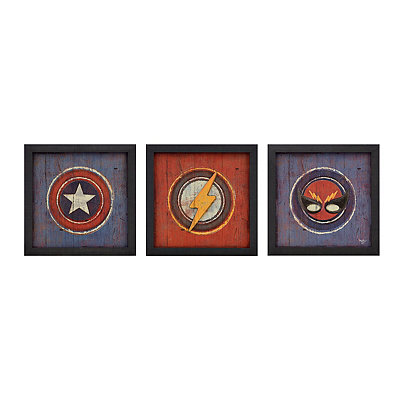 Superhero in Disguise Framed Art Prints, Set of 3