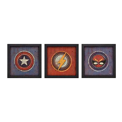 Superhero in Disguise Framed Art Prints, Set of 3