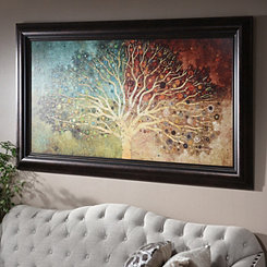 Tree of Life Seasons Framed Art Print