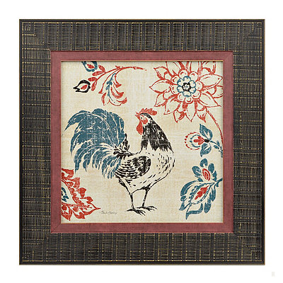Toile Rooster I Framed Art Print