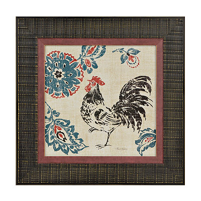 Toile Rooster II Framed Art Print