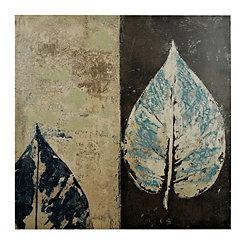 Gray Leaves I Canvas Art Print