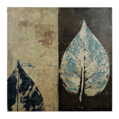 Gray Leaves I Canvas Art Print