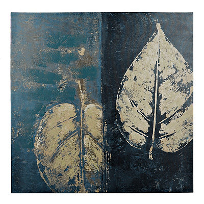 Blue Leaves I Canvas Art Print