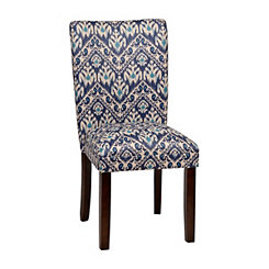 Indigo Ikat Parsons Chair