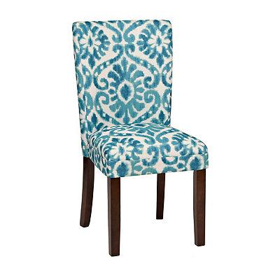 Blue Lamont Ikat Parsons Chair