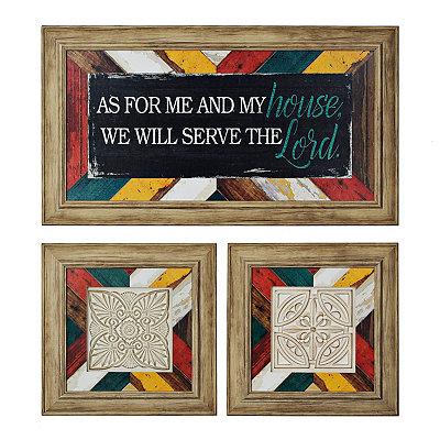 Serve the Lord Framed Art Prints, Set of 3