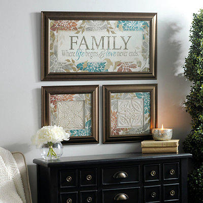 Family Life & Love Framed Art Prints, Set of 3