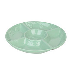 Aqua Sanibel Chip and Dip Serving Bowl