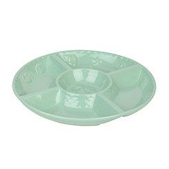 Aqua Sanibel Chip and Dip Serving Bowl