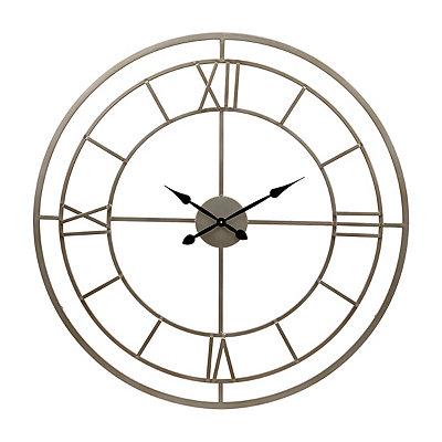 Silver Grayson Open Face Clock