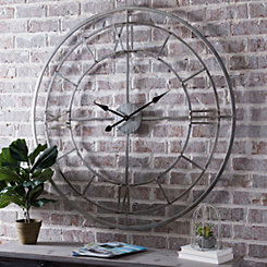Silver Grayson Open Face Clock