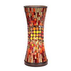 Red Mosaic Hourglass Uplight