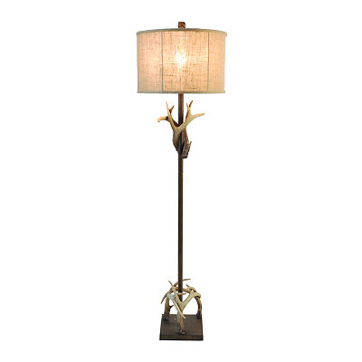 Crossed Antler Floor Lamp