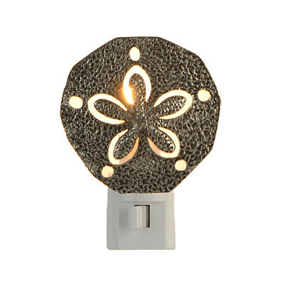 Pewter Sand Dollar Night Light