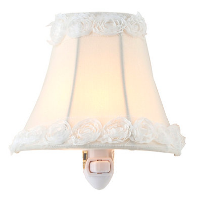 Cream Rosette Night Light