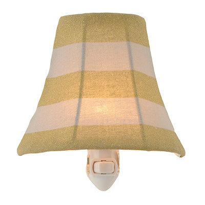 Striped Metallic Gold Night Light