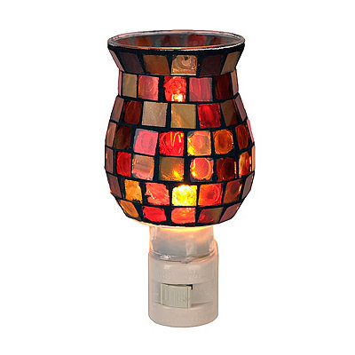 Red Mosaic Tile Night Light