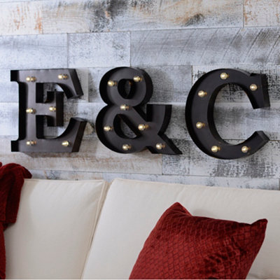 Bronze Metal LED Monogram Plaque